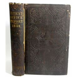 """1858 """"REPORT OF THE COMMISSIONER OF PATENTS"""" HARDCOVER BOOK"""
