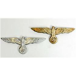 LOT OF 2 GERMAN NAZI ARMY OFFICERS VISOR CAP EAGLES