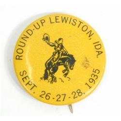 1936 LEWISTON IDAHO ROUND-UP CELLULOID PINBACK BUTTON