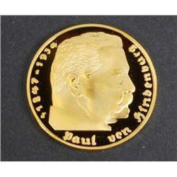 HINDENBURG DEUTSCHES REICH MARK COLLECTIBLE COIN