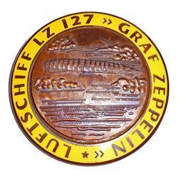 GERMAN NAZI GRAF ZEPPELIN LUFTSCHIFF LZ 127 AIR SHIP BADGE