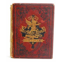 "1875 ""CUPIDS BIRTHDAY BOOK"" HARDCOVER BOOK - SHAKESPEARE"