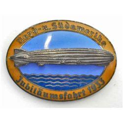 GERMAN NAZI GRAF ZEPPELIN AIR SHIP BADGE