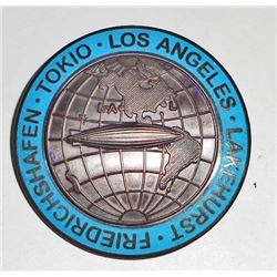 GERMAN NAZI LAKEHURST TOKIO LOS ANGELES HINDENBURG AIR SHIP BADGE