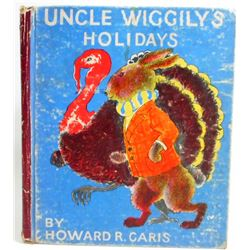 """1936 """"UNCLE WIGGLY'S HOLIDAYS"""" HARDCOVER BOOK"""
