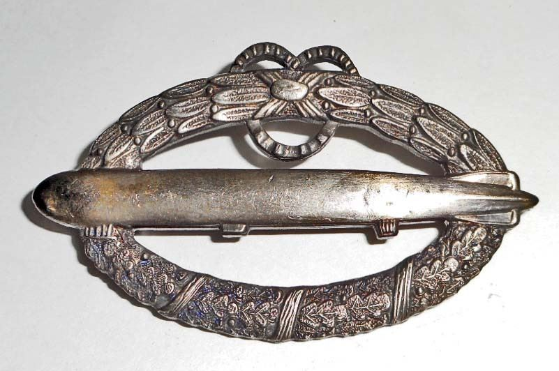 IMPERIAL GERMAN ZEPPELIN AIR SHIP PILOT BADGE
