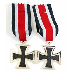 LOT OF 2 GERMAN NAZI 2ND CLASS IRON CROSS DECORATIONS