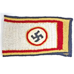 GERMAN NAZI OFFICERS KNITTED SWASTIKA SCARF