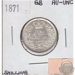 Great Britain One Shilling 1871 In AU-UNC