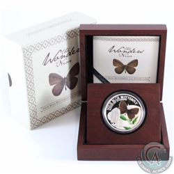 New Zealand Mint Issue 2014 Niue Island 1oz Silver Proof Blue Butterfly $2 Coin Issued by the New Ze