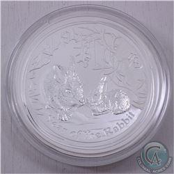 Australia 2011 Australia Kilo (32.15oz.) .999 Fine Silver Year of the Rabbit Silver Coin (TAX Exempt