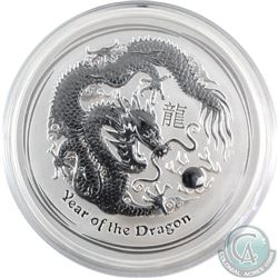 Australia 2012 10oz Australia Year of the Dragon .999 Fine Silver Coin (TAX Exempt) - capsule is cra