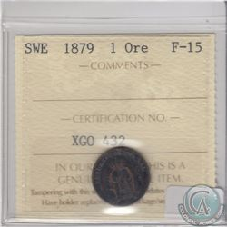 Sweden 1879 1 Ore ICCS Certified F-15