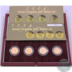 United Kingdom 2004 Gold Proof Pattern Set. Limited Edition Set #0899/2250. This premium set feature