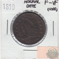 United States 1810 Cent Normal Date F-VF (Corrosion)