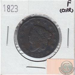 United States 1823 Cent Fine (Corrosion)