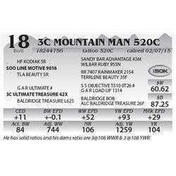 Lot 18 - 3C Mountain Man 520C
