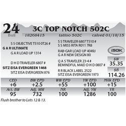 Lot 24 - 3C Top Notch 502C