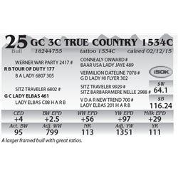 Lot 25 - GC 3C True Country 1534C