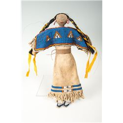 "Sioux Beaded Doll, 14"" overall"