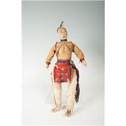"Ojibwa Doll, 16 ½"" overall"