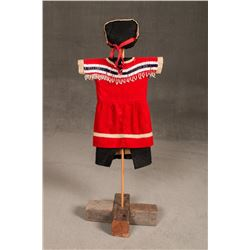 Blackfeet Toddler's Dress and Bonnet
