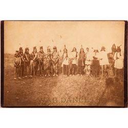 "Photograph titled ""War Dance"" (Sioux) by D.F. Barry"