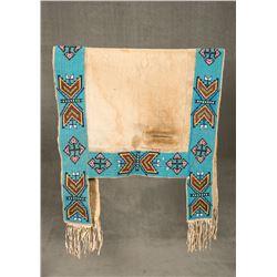 "Sioux Lakota Beaded Saddle Blanket, 73"" x 29"""