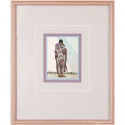 Kenneth Riley, acrylic on paper