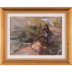 Morgan Weistling, oil on canvasboard