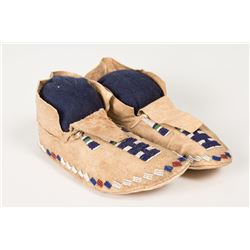 """Cheyenne or Sioux Beaded Woman's Moccasins, 9 ½"""" long"""