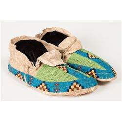 "Sioux Beaded Man's Moccasins, 10 ¾"" long"