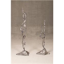 August Kochanowski, two-piece bronze