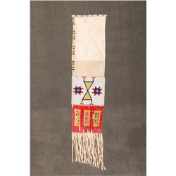 "Sioux Beaded Pipebag, 19"" long"