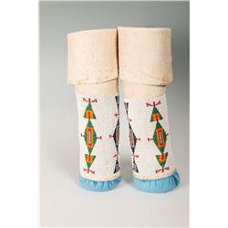 "Cheyenne Beaded Woman's Leggings, 15"" long"