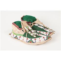 """Sioux Beaded Man's Moccasins, 10 ½"""" long"""