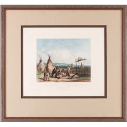 Karl Bodmer, hand-colored lithograph