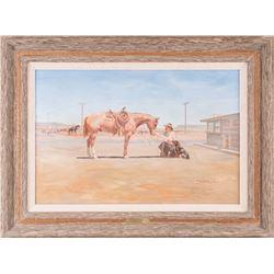 Bud Helbig, oil on canvas