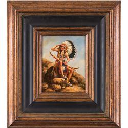 J. Oregon, oil on canvas