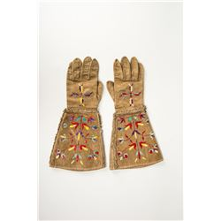 "Santee Sioux Quilled Gauntlets, 16 ½ "" x 8"""