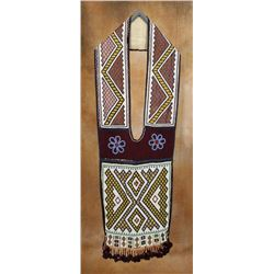 Chippewa Loomed Bandolier Bag, 44  x 13 ½