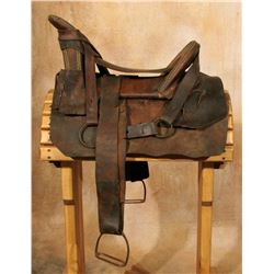 Navajo Tacked Saddle, 20  cantle to horn
