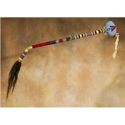"Blackfeet Beaded Club, 22"" long"