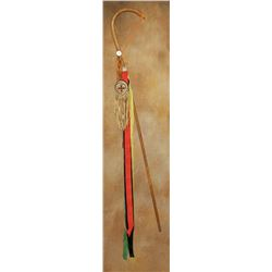 "Apache Girl's Puberty Ceremony Cane , 40"" tall"