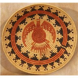 "Large Navajo Pictorial Basketry Tray,  30 ½"" diameter"