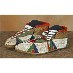 Sioux Beaded Man's Moccasins, 10 ½  long
