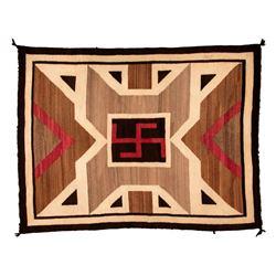 "Navajo Weaving, 5'4"" x 4'"