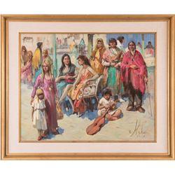 Vladan Stiha, oil on canvas