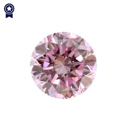 Fancy Purple-Pink Round Shape, SI1 Clarity Diamond (.19 Carat) GIA Cert: 2165716211
