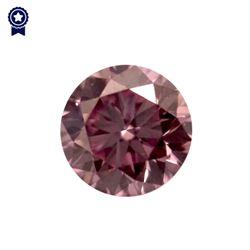 Fancy Intense Purplish Pink Round Shape, VS2 Clarity Diamond (.20 Carat) GIA Cert: 2165713383